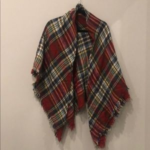 Fall plaid blanket scarf